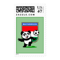 Medium Stamp 2.1' x 1.3' with Hungary Football Panda design