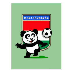 Postcard with Hungary Football Panda design