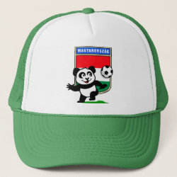 Trucker Hat with Hungary Football Panda design