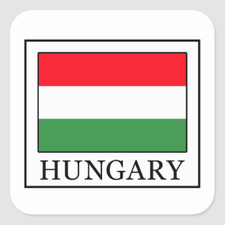 Hungary Square Sticker