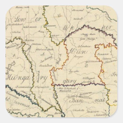 Hungary, Transylvania Square Stickers