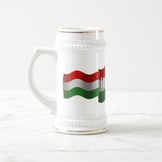 Hungary Waving Flag Beer Stein