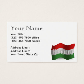 Hungary Waving Flag Business Card