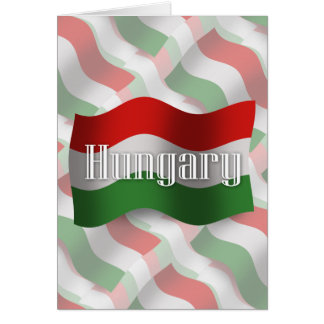 Hungary Waving Flag Card