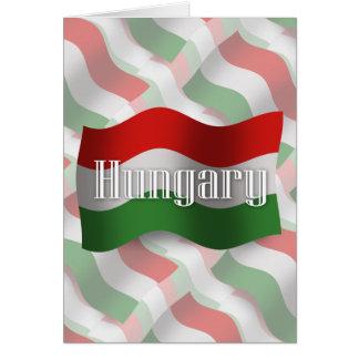 Hungary Waving Flag Card