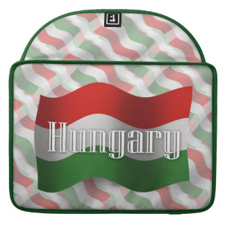 Hungary Waving Flag Sleeves For MacBook Pro