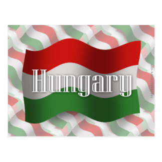 Hungary Waving Flag Postcard