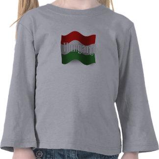 Hungary Waving Flag Tshirt