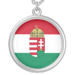 Hungary With Arms (State), Hungary Round Pendant Necklace