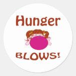 Hunger Classic Round Sticker