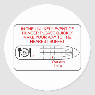 Hunger Emergency Classic Round Sticker