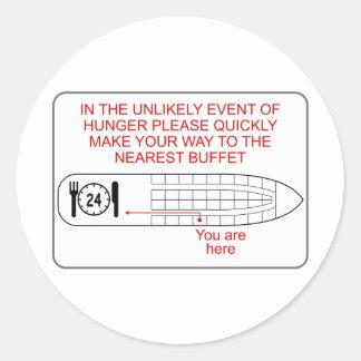 Hunger Emergency Round Sticker