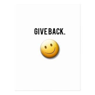 Hunger Growl - Give Back. Postcard