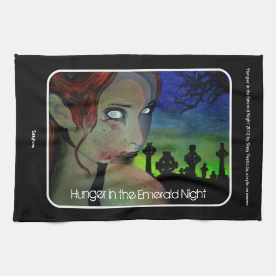'Hunger in the Emerald Night' American MoJo Kitche Kitchen Towels