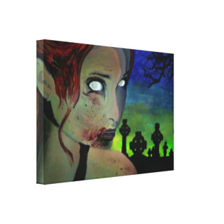 'Hunger in the Emerald Night' Stretc Canvas Print