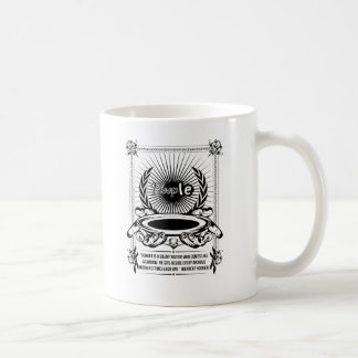 Hunger is a silent visitor who comes like a shadow coffee mug