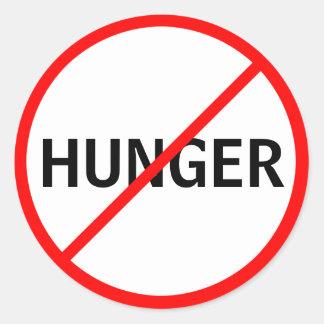 Hunger Prohibited! Classic Round Sticker