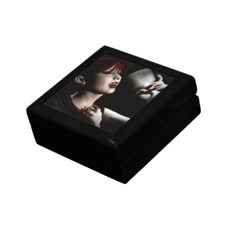 Hunger Vampire Goth Pinup Art Keepsake Box