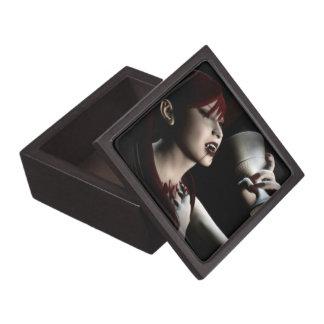 Hunger Vampire Goth Pinup Art Premium Jewelry Boxes