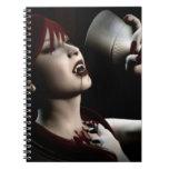 Hunger Vampire Goth Pinup Art Spiral Notebook