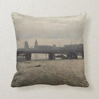 Hungerford Bridge from Waterloo Bridge Throw Pillow