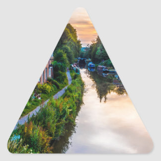 Hungerford Canal Sunset Triangle Sticker