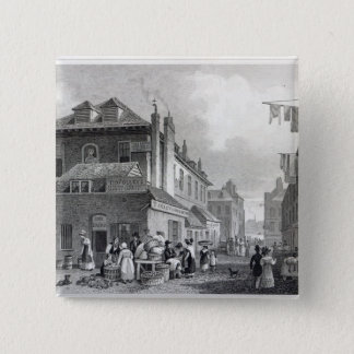 Hungerford Market, Strand, engraved Thomas Pinback Button