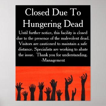 Halloween Themed Hungering Dead Warning Poster