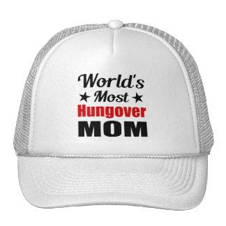 Hungover Mom Funny Drinking Trucker Hat