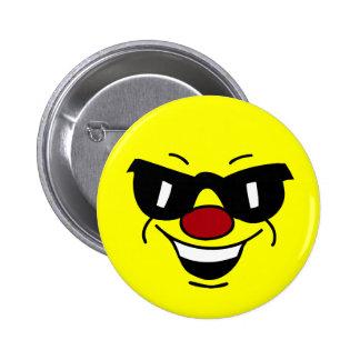 Hungover Smiley Face Grumpey Button