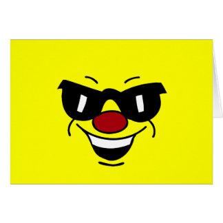 Hungover Smiley Face Grumpey Card