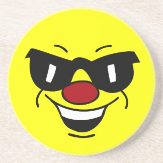 Hungover Smiley Face Grumpey Coaster