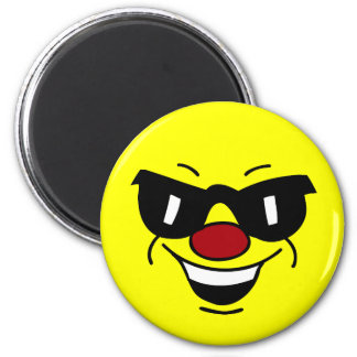 Hungover Smiley Face Grumpey Magnet