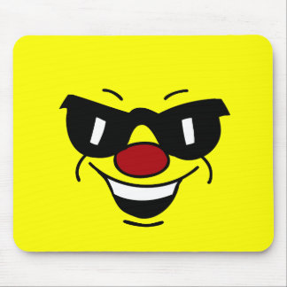 Hungover Smiley Face Grumpey Mouse Pad