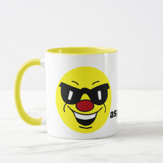 Hungover Smiley Face Grumpey Mug