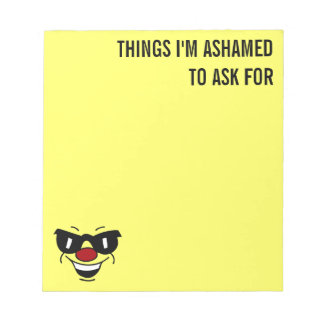 Hungover Smiley Face Grumpey Notepad