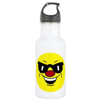 Hungover Smiley Face Grumpey Stainless Steel Water Bottle
