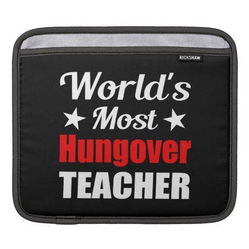 Hungover Teacher - Novelty Drinking Humor iPad Sleeves