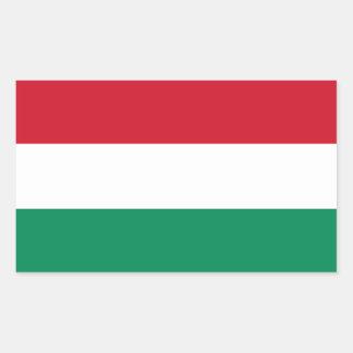 Hungría/bandera húngara rectangular pegatina