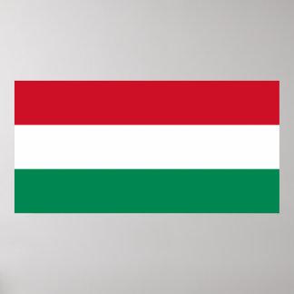 Hungría - bandera nacional húngara impresiones
