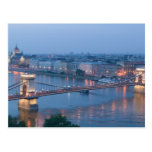 HUNGRÍA, Budapest: Puente (de cadena) de Postal