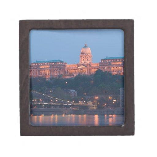 HUNGRÍA, Budapest: Puente (de cadena) de Szechenyi Caja De Recuerdo De Calidad