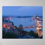 HUNGRÍA, Budapest: Puente (de cadena) de Szechenyi Póster