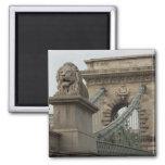Hungría, capital de Budapest. 2 históricos Imán Cuadrado