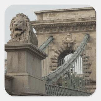 Hungría, capital de Budapest. 2 históricos Colcomanias Cuadradases