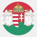 Hungría, Hungría Pegatinas Redondas