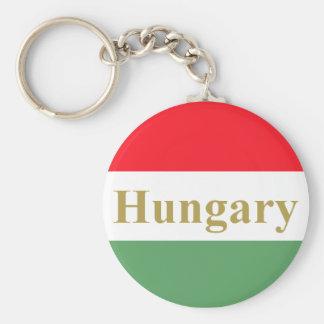 Hungría Llavero Redondo Tipo Pin