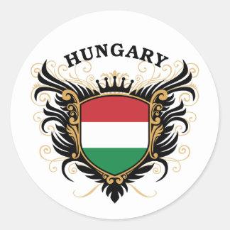 Hungría Pegatina Redonda