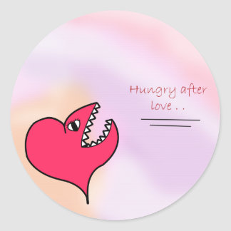 Hungry After Love Classic Round Sticker