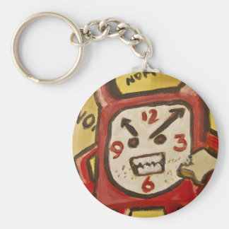 Hungry Angry Alarm Basic Round Button Keychain